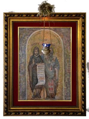 Икона Св. Ћирила и Методија у Удружењу (сликар Мило Стојковић)
